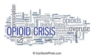 Opioid crisis words
