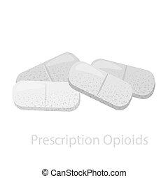 opioids., divers, drogue, pilules, monde médical, ...