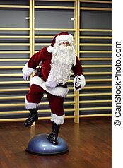 opleiding, claus, kerstman, fitness