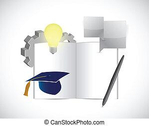 opleiding, concept, illustratie, ontwerp