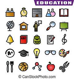 opleiding, iconen