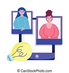 opleiding, leraar, student, creativiteit, digitale , smartphone, online