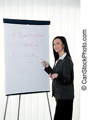opleiding, trainer, draai grafiek om, french., ausbi