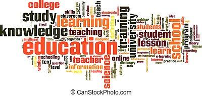opleiding, woord, wolk