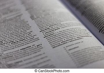 opleiding, woordenboek