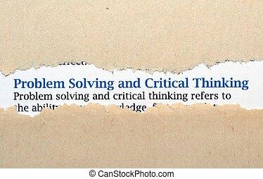 oplossend probleem, concept