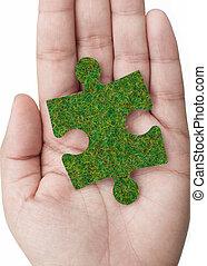 oplossing, groene