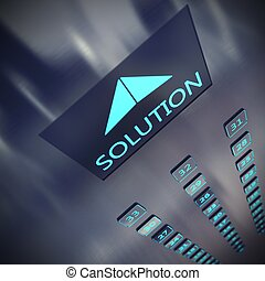 oplossing, lift