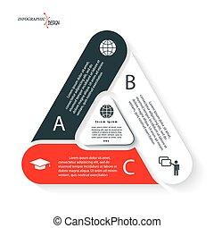 opmaak, workflow, presentatie, zijn, opties, ontwerp, web, vorm, zakelijk, triangle., infographic, diagram, of, gebruikt, groenteblik, ontwerp, grafisch, getallen
