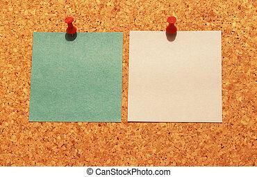 opmerkingen, 2, pin, plank