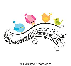 opmerkingen, muzikalisch, vogels