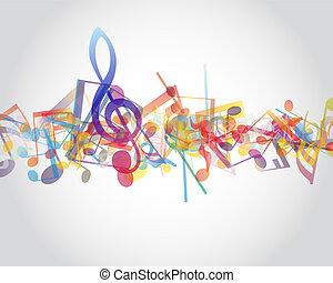 opmerkingen, veelkleurig, muzikalisch