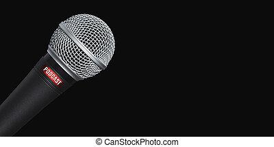 opname, black , microfoon, studio, podcasts, achtergrond, op