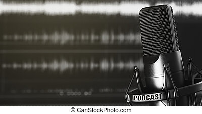 opname, concept, podcasting, audio