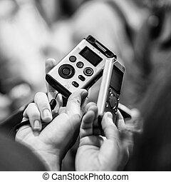opname, dictafoons