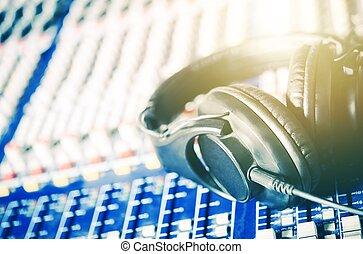 opname, headphones, studio