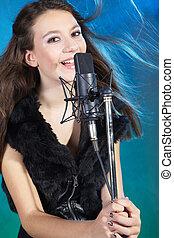 opname, het zingen, studio