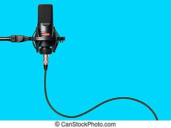 opname, microfoon, studio, podcasts