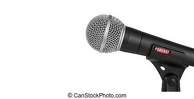 opname, microfoon, studio, podcasts, vrijstaand