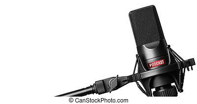 opname, microfoon, vrijstaand, podcasts, studio