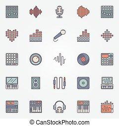 opname, muziek, iconen