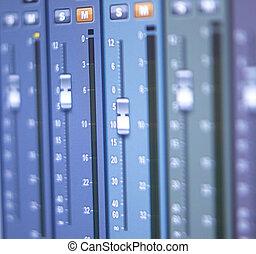 opname, vermenging, studio, bureau
