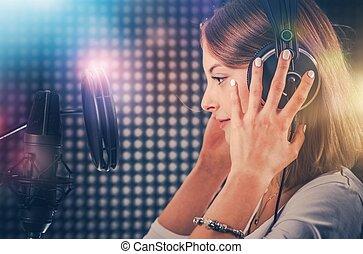 opname, zinger, studio