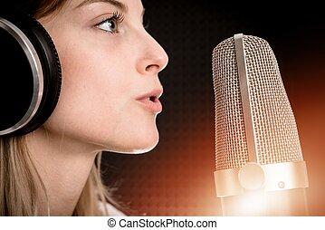 opnamestem, concept, radio