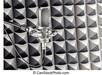 opnamestudio, microfoon, radio