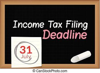 opodatkować, -, 31, pisemny, ostateczny termin, dochód, ...