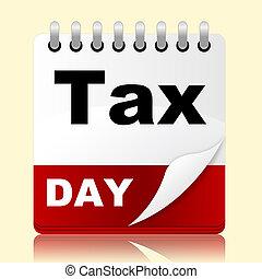 opodatkować, dzień, wskazuje, irs, przypomnienie, i,...