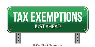 opodatkować, exemptions, znak