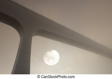 Oporto foggy bridges - One of the most modern of the many...