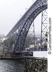 oporto in a cloudy day