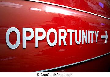 oportunidad, señal