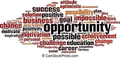 oportunidade, palavra, cloud.eps