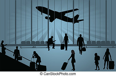 opowiesc - A businessman looking out a departure lounge...