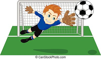 oppasser, voetbal doel, voetbal
