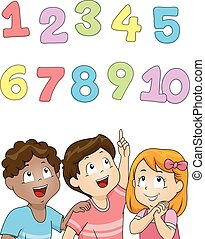 oppe, børn, antal, lede