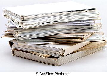 opper van de documenten