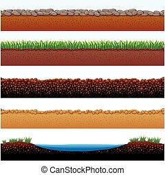 oppervlakten, grond