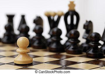 opponent., intero, pegno, contro, uno
