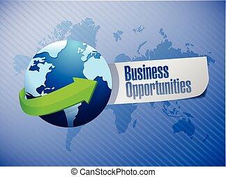 opportunità, segno, affari
