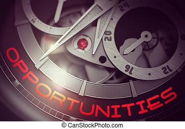 Opportunities on Luxury Wristwatch Mechanism. 3D.