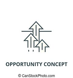 Opportunity concept vector line icon, linear concept, outline sign, symbol