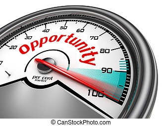 Opportunity conceptual meter indicate hundred per cent