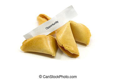 Opportunity Fortune Cookie - Chinese fortune cookies cracked...
