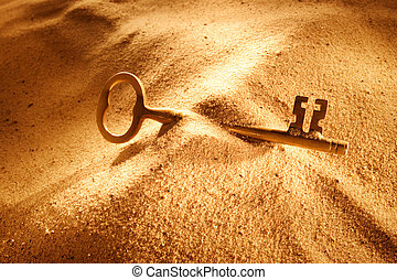 Opportunity Found - An old key laying in the sand