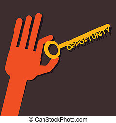 Opportunity key in hand