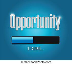 opportunity loading concept illustration design over a blue...